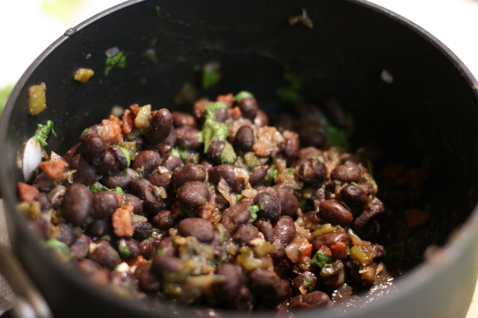 Roasted Poblano Black Beans « FoodMayhem