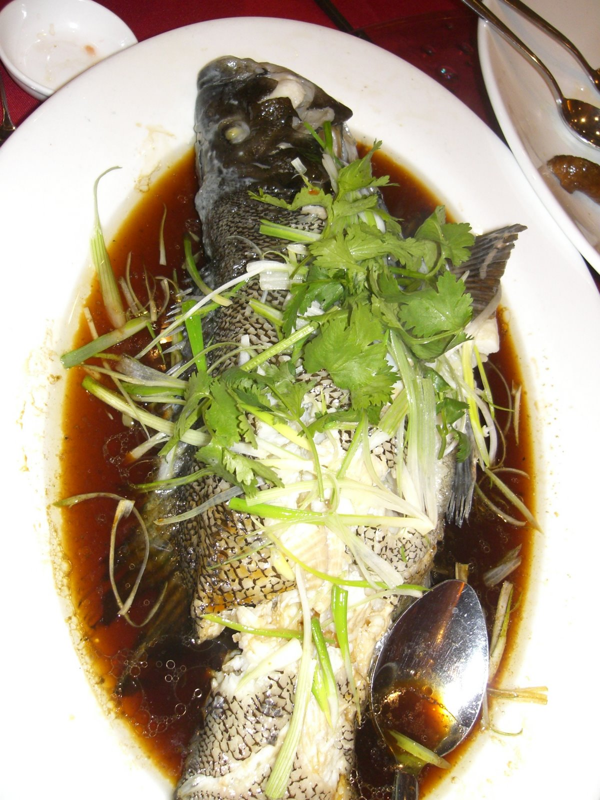 East ocean palace banquet stylin foodmayhem for Steamed whole fish